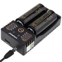LiitoKala Lii-202 battery charger + 2 pcs HK LiitoKala Lii-50A 26650 5000 mah batteria Ricaricabile per la torcia elettrica, 40-50A di scarico