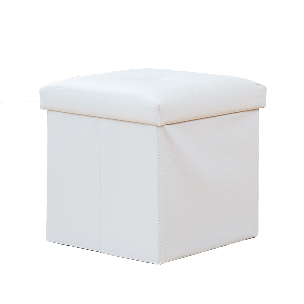 Kids Folding Lidded Storage Box Cube Linen Basket Organizer For Toys Clothes Books 27L