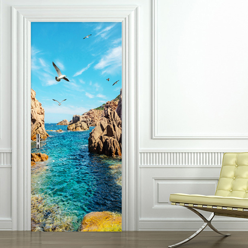 Photo Wallpaper 3D Stereo Seaside Landscape Reef Mural Living Room Bedroom Dining Room Background Wall Sticker Papel De Parede