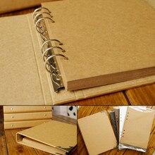 2016 New craft paper photo album graffiti diary Memory  handmade DIY Photo Album fotoalbum Scrapbooking wedding