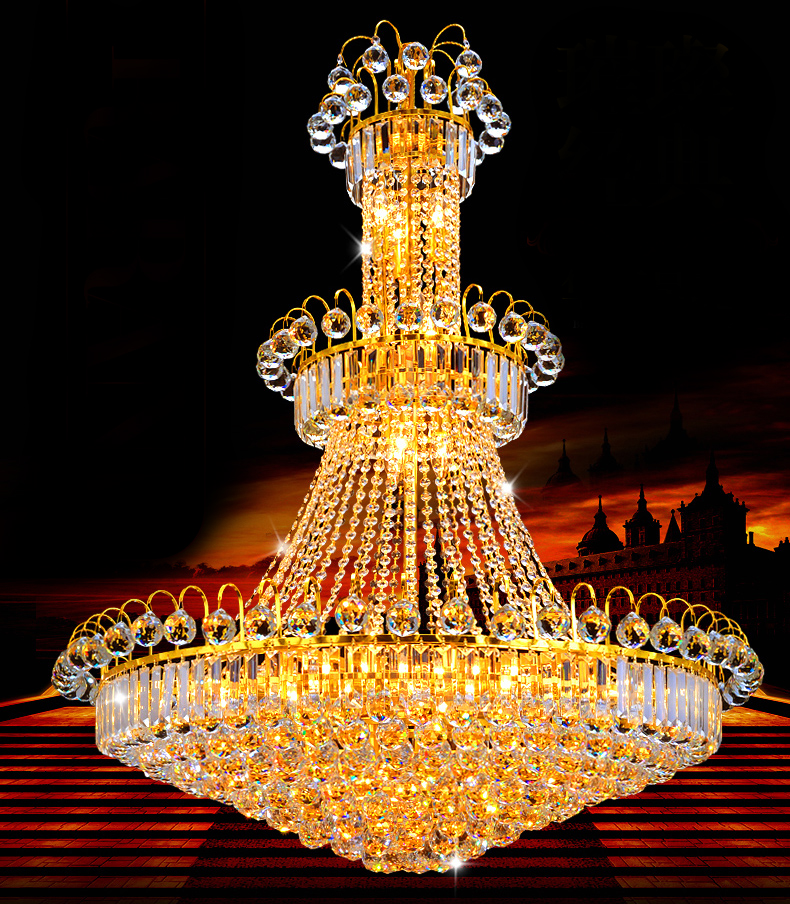 Gorgeous Crystal Chandelier Large Crystal Suspension Light Fixture Hanging Lustre for Living room Deco Hotel Project Foyer Villa