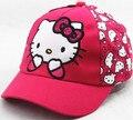 Так Прекрасный Новое Прибытие Cute Cat Розовый Розовый Красный Hello Kitty Лук Бейсболка Baby Дети Cap Хип-Хоп Случайный Мальчик Девочка Snapback gorras