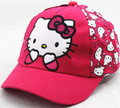 So Lovely New Arrival Cute Cat Pink Pink Red Hello Kitty Bow Baseball Cap Baby Kids Cap Hip Hop Casual Boy Girl Snapback gorras