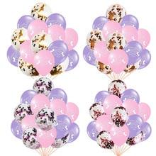 10pcs 12inch Unicornio Latex Balloons 5pcs Confetti Ballons Birthday Unicorn Party Decoration Kids Baby Shower Party Supplies стоимость