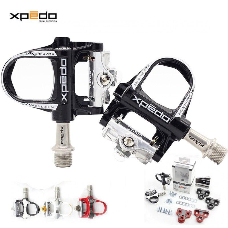 Xpedo poussée 7 (XRF07MC) vélo de route pédales ultra-légères scellées Look Keo crampons compatibles pédale auto-bloquante 235g alliage de magnésium