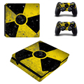 The Radiation Logo Cover for Ps4 Slim Console Cover For Playstaion 4 Console PS4 Slim Skin+ 2Pcs Controller Protective Skins