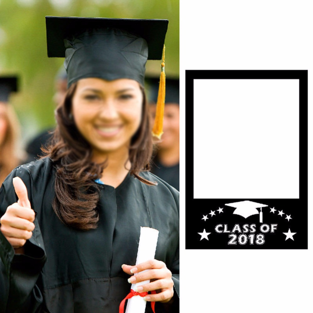 2018 New Hot 1pc Graduation Paper DIY Photo Frame Props Hot Funny Fun Creative Photobooth Props Graduation Season Party Supply-in Photobooth Props ...