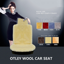 OTLEY 100%Wool Car Seat Cover Autumn And Winter Wool sheepskin Mat Keep Warm and Confortable