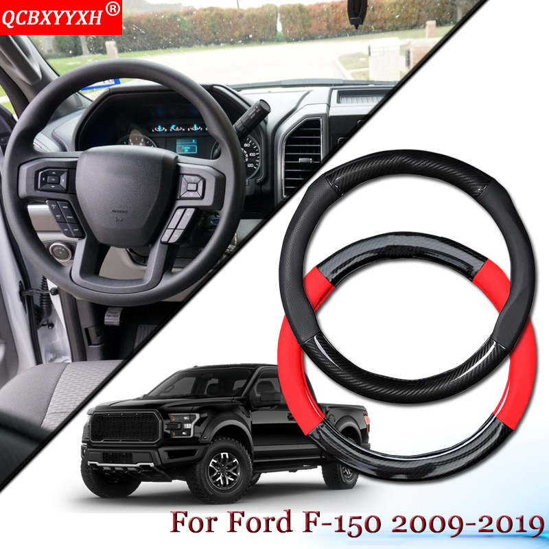 Car Styling Carbon Fiber Leather Car Steering Wheel Cover Car Steering wheel Hubs Auto Accessories Fit