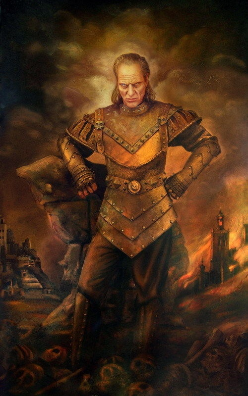 Vigo the Carpathian Art Silk Fabric Poster 36 x 24