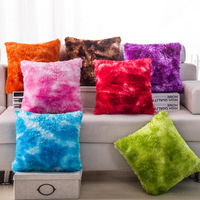 New Plush Cushion Cover Gradient Color cushion covers for sofa car seat decor pillow covers decorative Square housse coussin
