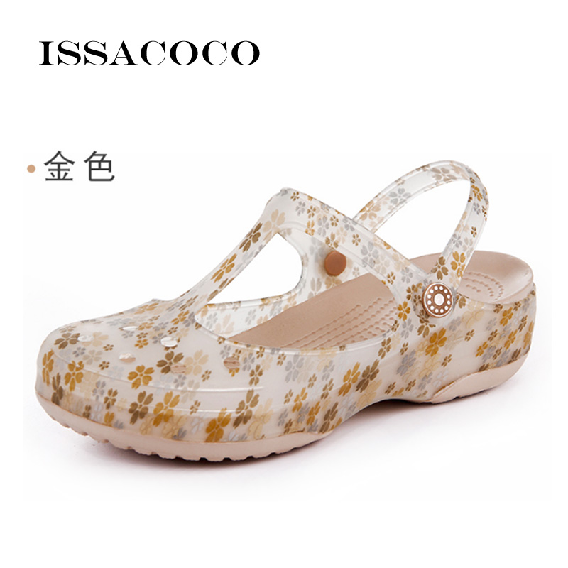 ISSACOCO Sandal Women Lady Spring Shoes Women Summer Sandals Flat Beach Sandals Summer Sandals Platform Summer Ladies Shoes