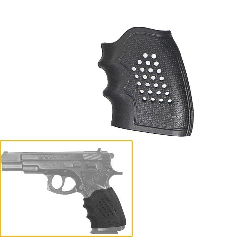 Universal Rubber Gun Grip Sleeve Glove Fits Most Pistols Revolvers and Handguns