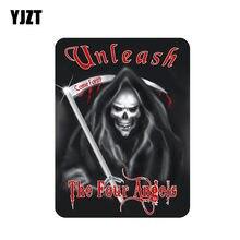 YJZT – autocollant de voiture crâne de mort des quatre anges, 11.3CM x 15.2CM, accessoires de personnalité, 6-0646