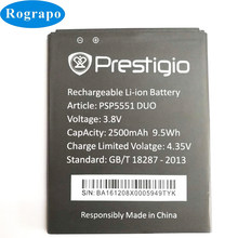 New 2500mAh Replacement Battery For Prestigio Grace S5 LTE PSP5551DUO PSP5551 PSP 5551 DUO Bateria Batterie Cell Phone Batteries(China)