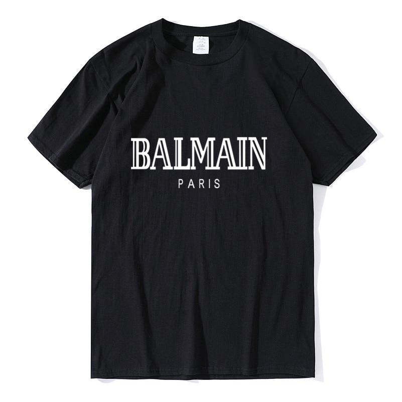 Balmain Paris   T     Shirt   Men Fashion Letter   T  -  Shirt   Cotton Short Sleeve   Shirts   for Men Summer Casual Funny   T     Shirts   Tops Tee Tshirt