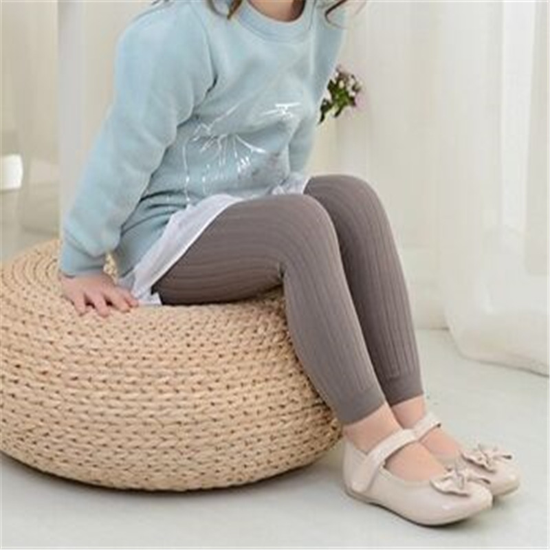 Solid Kids Girls Leggings Cotton Knit Leggings For Girls Casual Children's Girl Summer Pantyhose Summer Spring