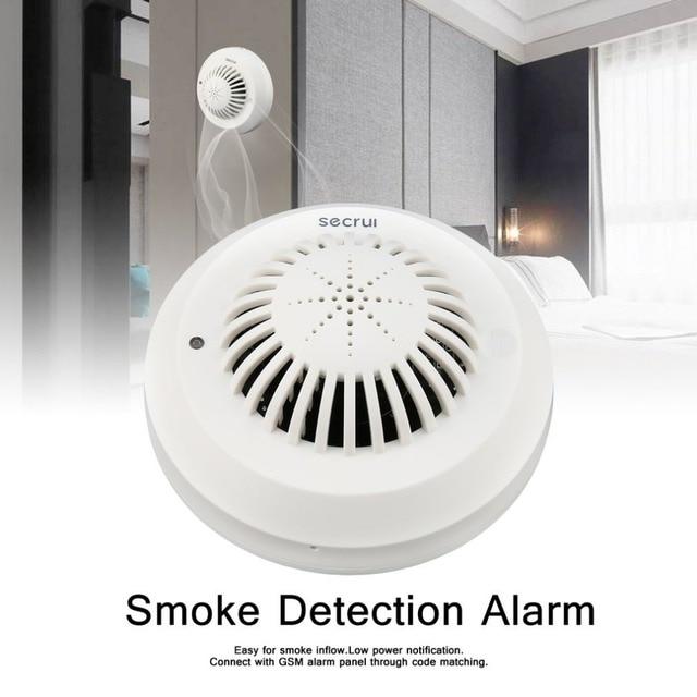 Secrui Smoke Detector Alarm Photoelectric Sensors Self-test