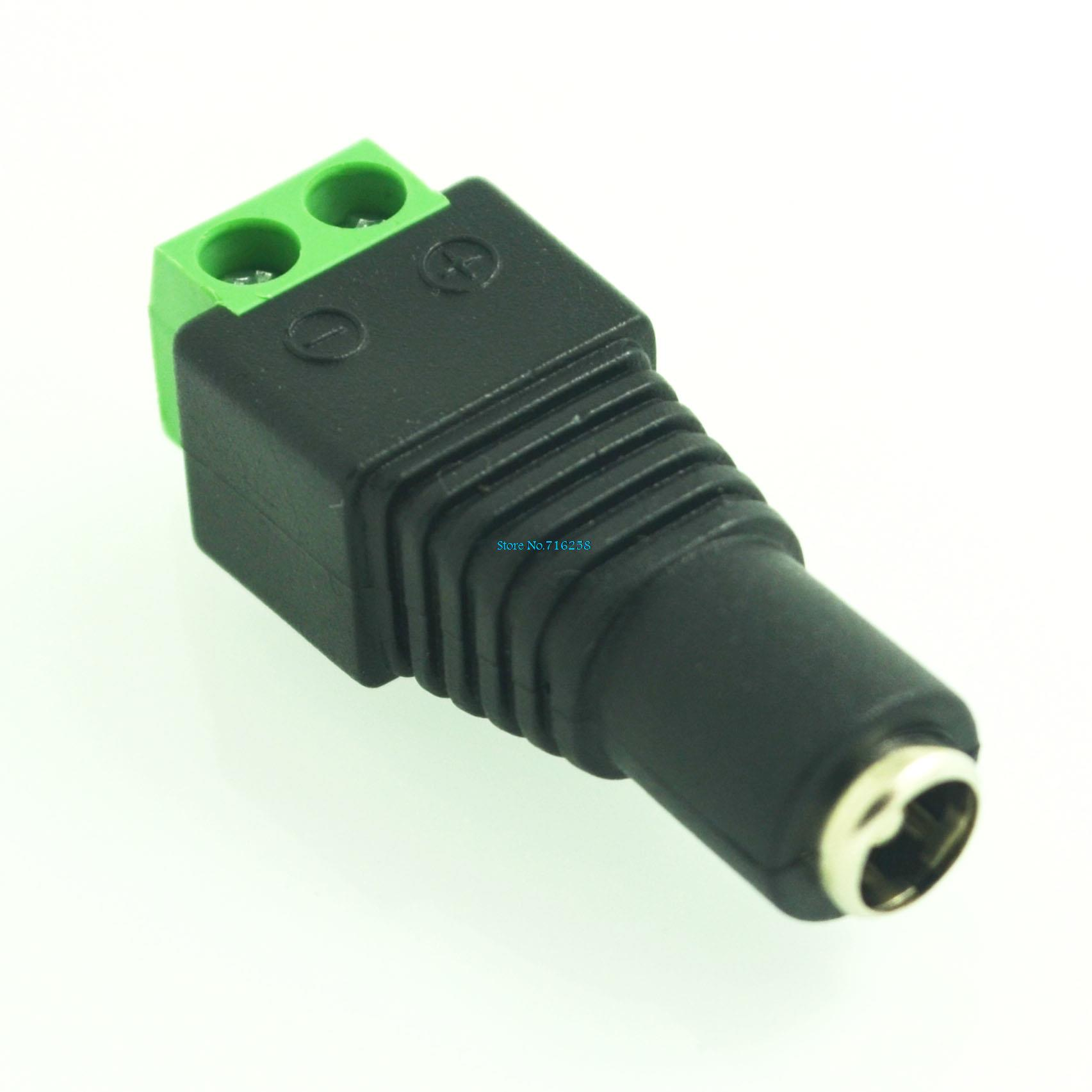 10Pcs 12V 2.1 X 5.5mm DC Power Female Plug Jack Adapter Connector Plug For CCTV Single Color LED Light
