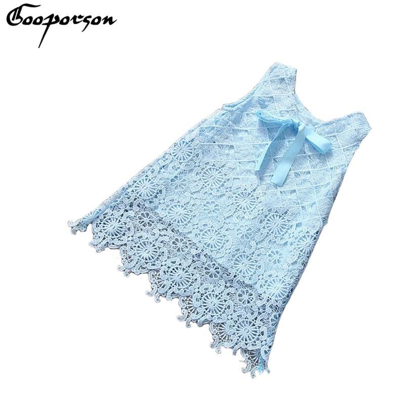 Girls Lace Dress Elegant Sky Blue Party Princess dress for Kids Girl Summer Clothes Baby Girl Dress Bow Drop Shipping blue sky чаша северный олень