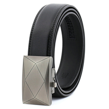 лучшая цена Mens Belt Genuine Leather Luxury with Automatic Buckle 2019 Fashion Male Luxury Belts