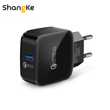 Charger USB Phone Charger Quick Charge 3.0 EU Plug Fast USB Charger Travel Charging for iPhone Samsung Lenovo HTC Smart Phone