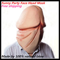 Funny Halloween Party Cosplay Latex Movie Mask Costume Latex Dick Head Mask Latex Penis Mask For Cosplay Funny Toy in stock