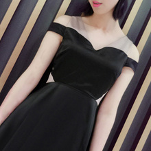 INDRESSME  2018  summer new women's fashion sexy V-neck strapless  dress Clearance
