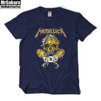 Metallica Men T Shirt Heavy Metal Metallica Fan Tee Shirt Homme Rock Roll Band Short Sleeve