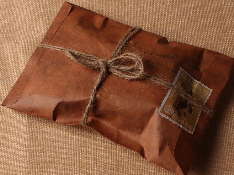 50pcs lot 16x11cm old style vintage paper envelope brown for Vintage stuhle gunstig