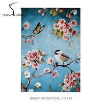 SewCrane Spring Bird Flowers Butterfly Home Restaurant Japanese Door Curtain Noren Doorway Drapes Room Divider