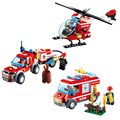Fire Rescue Vehicle Truck Building Blocks Fireman Toys Model Assembly Bricks Educational Gifts For Children