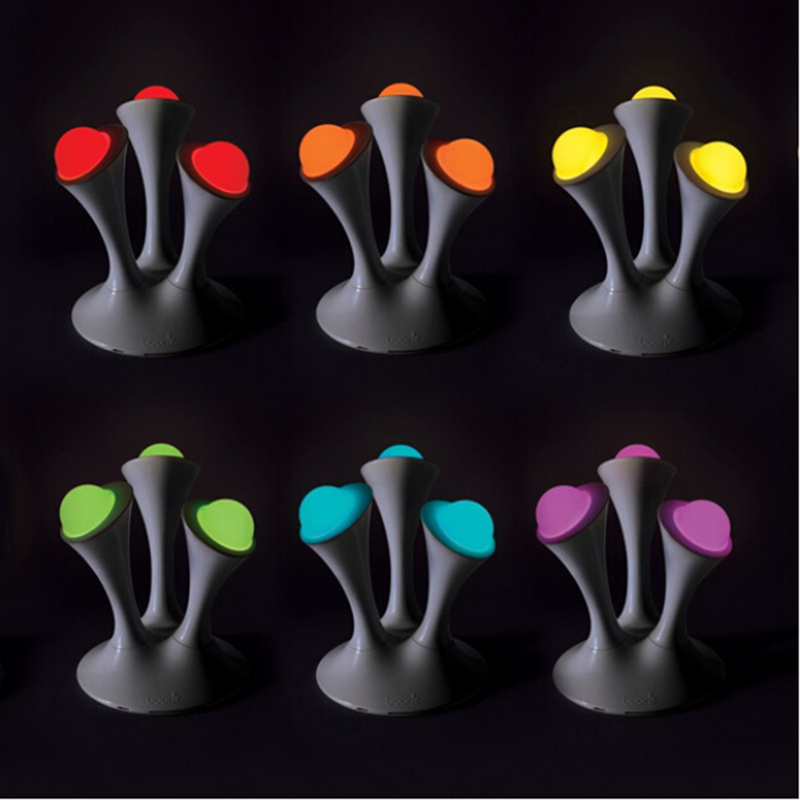 Mushroom shape 7 ColoLed Colorful Gradient Lights Magic Night Light table Lamps For Home Christmas Support EU/US/UK/AU Plug alluminum alloy magic folding table bronze color magic tricks illusions stage mentalism necessity for magician accessories