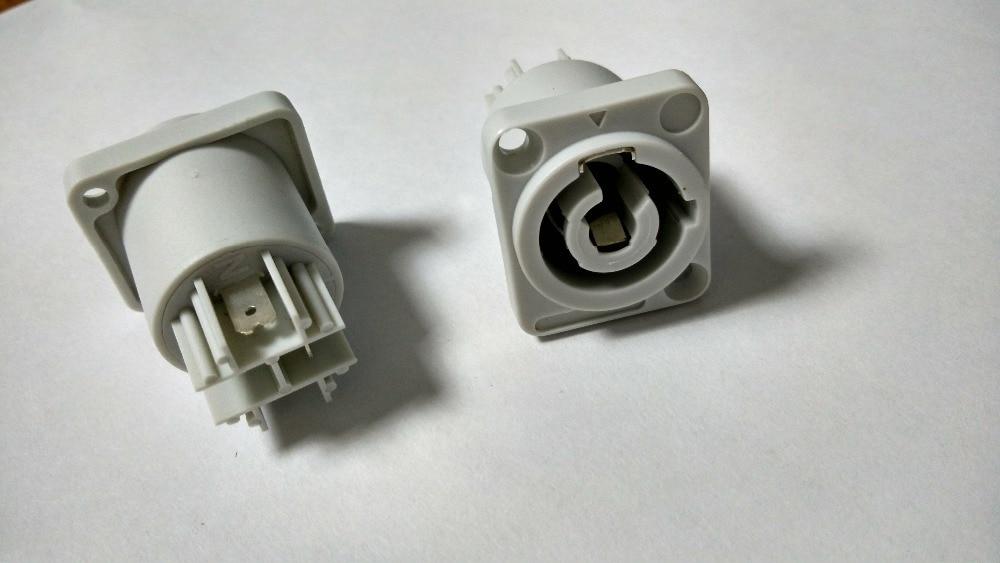 bilder für 20 stücke grau Neutrik NAC3MPB-1 Ausgang Powercon Chassis mount-anschluss