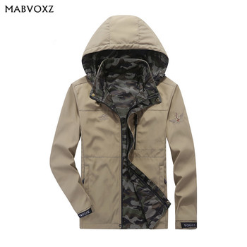 Reversible Quick-drying Men Jackets Thin Camouflage Inside Hooded Coats New 2018 Autumn Casual Miliary Army Brand AFSJEEP
