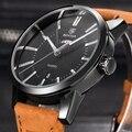 Reloj Hombre BENYAR Men Genuine Leather quartz-watch fashion Mens Business Watches Top Brand Luxury Male Clock Relogio Masculino