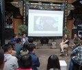 Freeshipping 180 inch 16:9 Складная 3D Серебряный экран проекционный экран ткань Портативный складной без рамки проекционный экран фильм