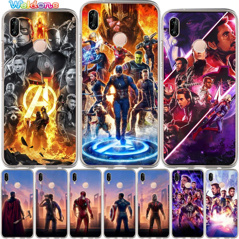 <font><b>Marvel</b></font> Avengers: Endgame Iron Man Phone Case For <font><b>Huawei</b></font> P30 P20 <font><b>Lite</b></font> Pro <font><b>P10</b></font> <font><b>Lite</b></font> P8 P9 <font><b>Lite</b></font> 2017 PSmart case <font><b>Cover</b></font> Etui Coque image