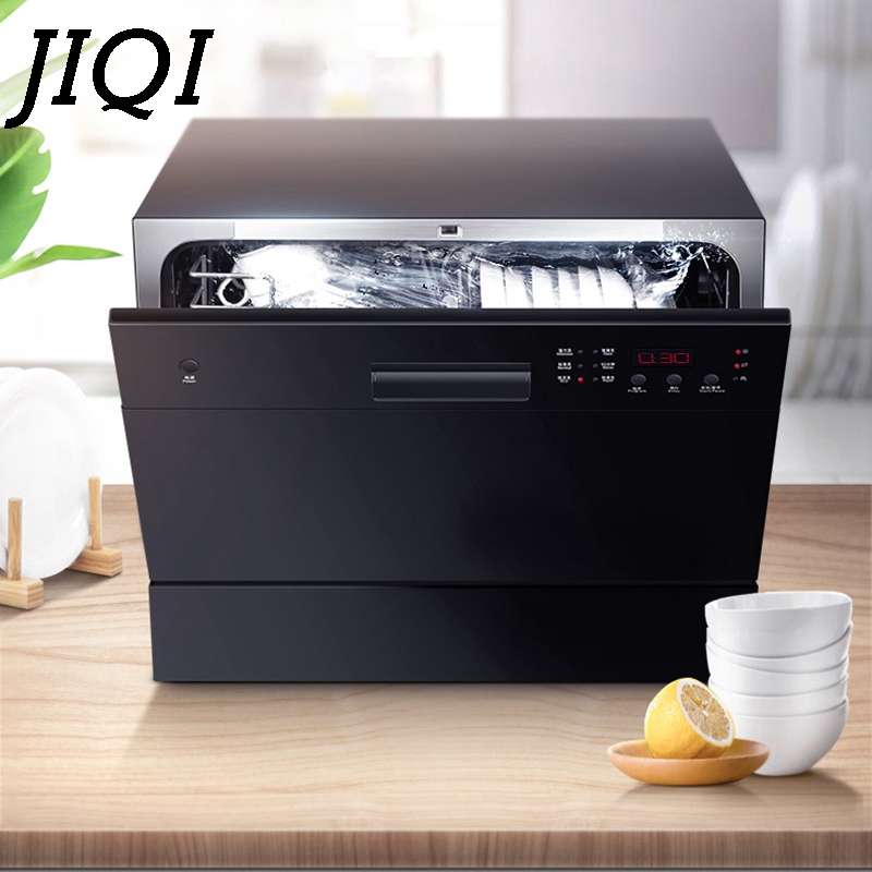 JIQI Automatic Dishwasher Sterilizer Intelligent Embedded Mini Desktop Bowl Dishes Washing Machine Cleaner Disinfection Dryer EU