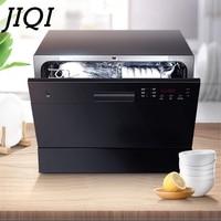 JIQI Automatic Dishwasher Sterilizer Intelligent Embedded Mini Desktop Bowl Dishes Washing Machine Cleaner Disinfection Dryer EU