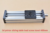 3d Printer Z Axis Diy C Beam CNC Sliding Table Lead Screw Travel 400mm T8 Screw