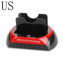 High Speed US USB 2.0 Hard Disk Base 2.5 Inch/3.5 Inch IDE SATA Dock HUB Dual HDD Hard Drive Disk Docking Station Base