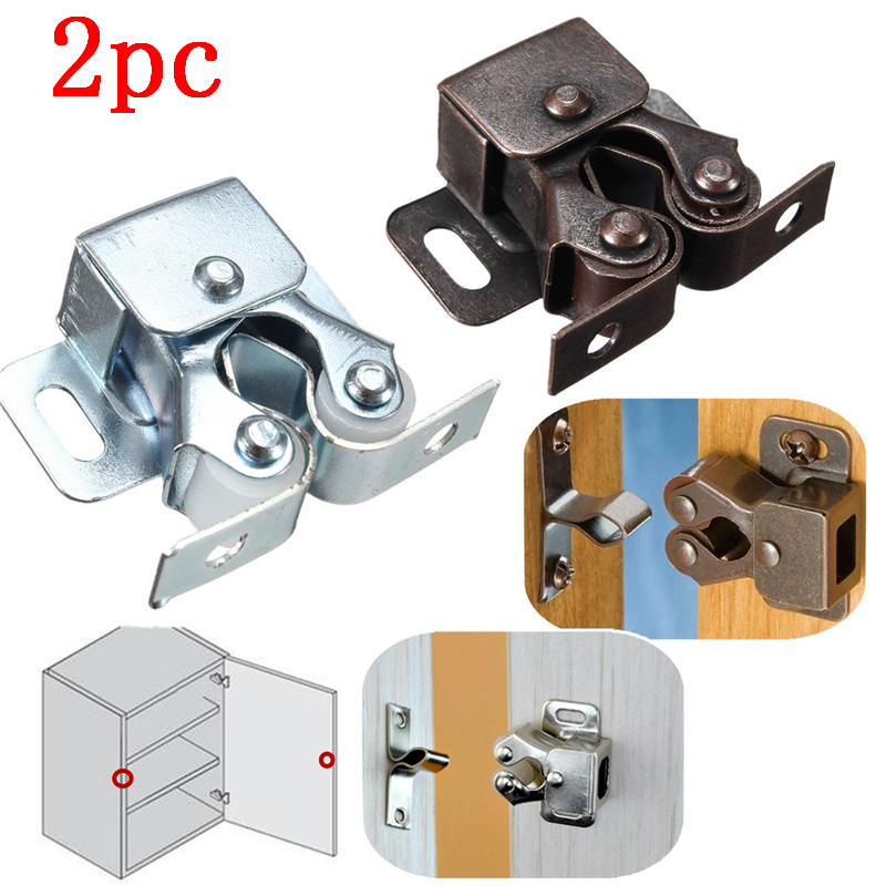2pcs/Lot Home Safely Security Cabinet Door Drawer Magnetic Catch Door Stopper With Screw Chrom Copper Hot Sale pure copper magnetic suspension coil with 3mm screw hole