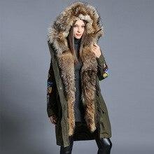 2016 Winter jacket Women down jackets White duck down women s down coat large raccoon fur