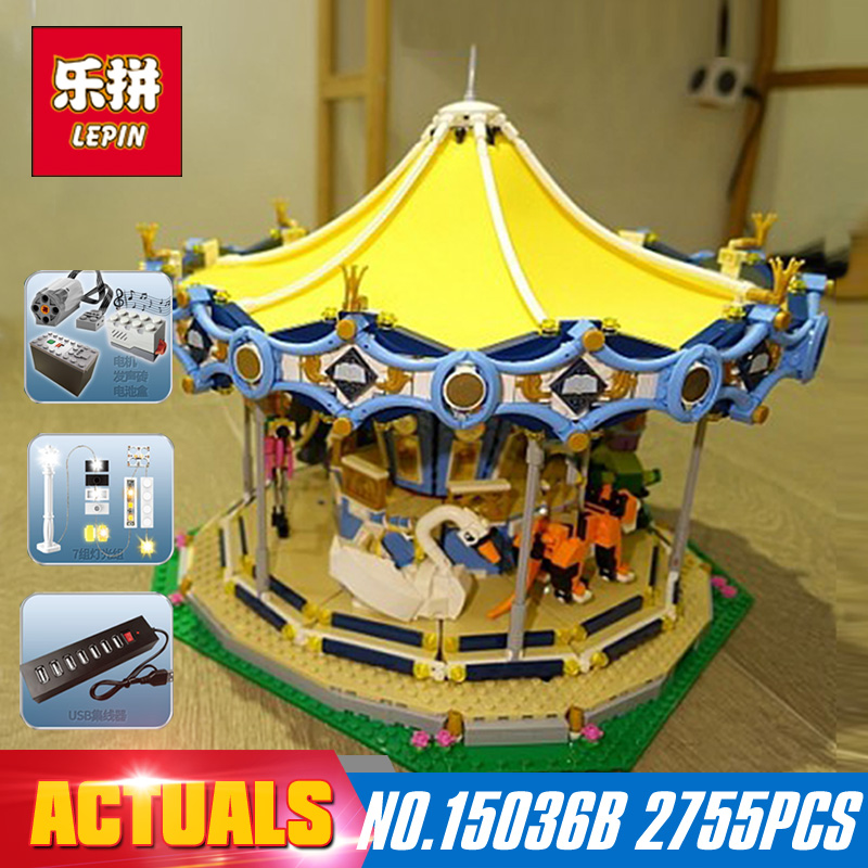 Lighting 2705Pcs Lepin 15036 Genuine Street Series 2755Pcs 15036 The New Carousel Set Building Blocks Bricks Toys Model 10257 петля двери 2705 зад н о прав ниж