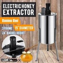 ブランド新大型 3 3 フレームステンレス鋼の電気蜂蜜抽出