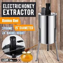 Brand New Large Three  3 Frame Stainless Steel Electric Honey Extractor