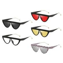 цены на Retro Fashion Men Women Sunglasses UV 400 Protection Goggle Polka Dot Cat Eye Sun Glasses for Driving Outdoor Sports Fishing  в интернет-магазинах