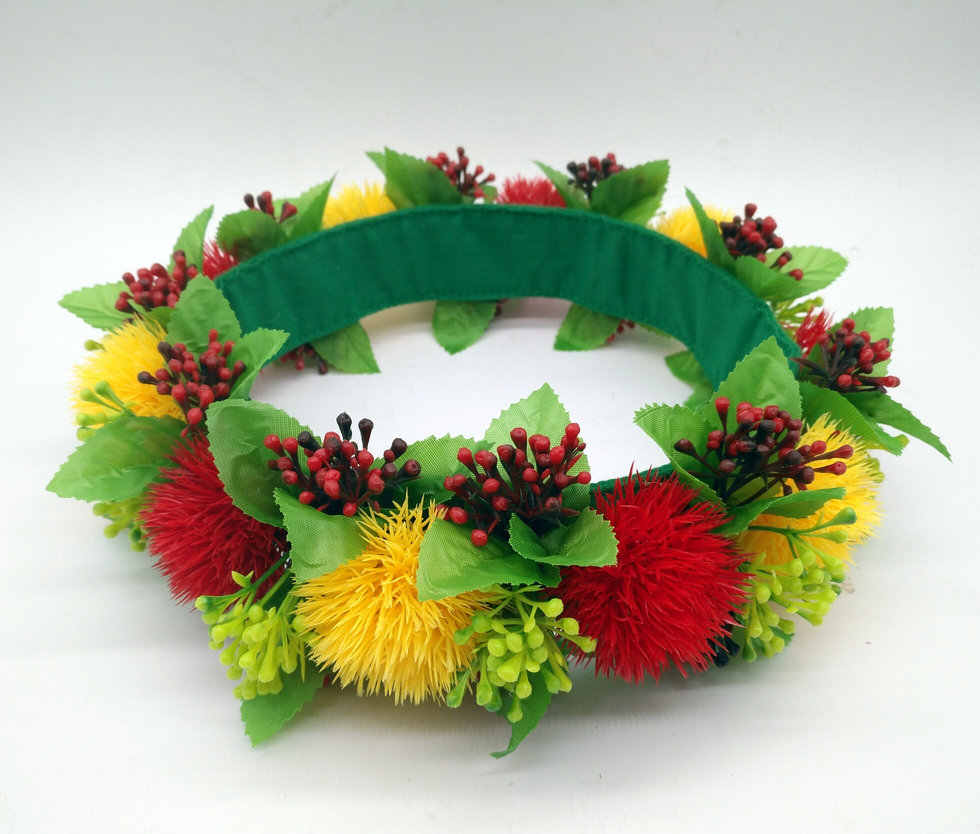 CH0343B 50pcs/ lot 65CM Plastic Lehua Headband Haku Women wear hair accessories Hawaii tropical flower SummerParty