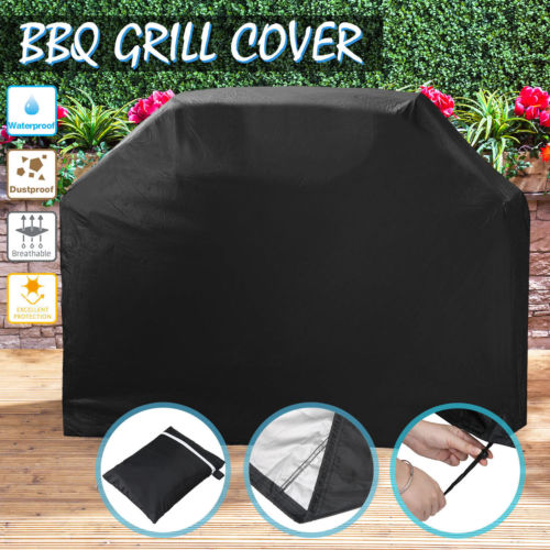 BBQ Grill Cover 4 Burner Waterproof Outdoor UV Gas Charcoal Barbecue ProtectorBBQ Grill Cover 4 Burner Waterproof Outdoor UV Gas Charcoal Barbecue Protector